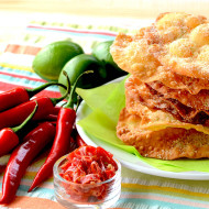 Candied Chile and Lime Mexican Bunuelos