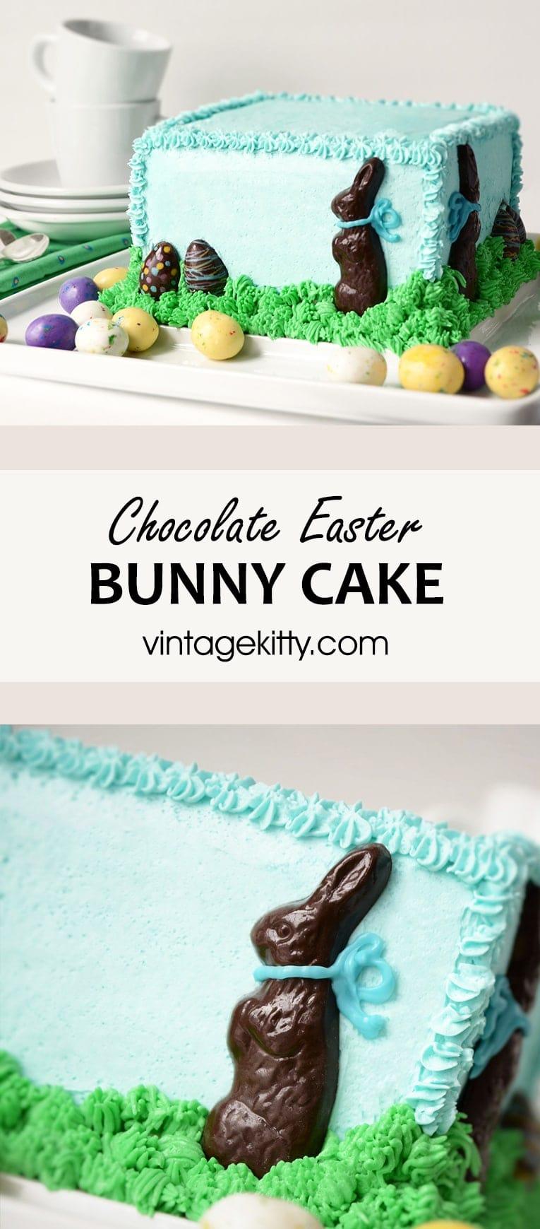 Chocolate Easter Bunny Cake Pin 2 - Chocolate Easter Bunny Cake