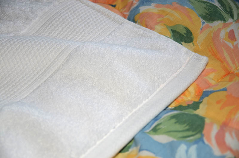Towel Pillowcase Hem Web - Easy Towel Pillowcase Sewing Project