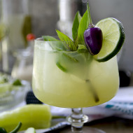 Spicy Thai Basil Cucumber Cocktail