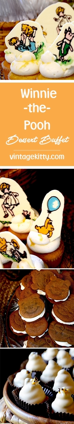 Winnie the Pooh Long Pin - Winnie the Pooh Baby Shower Dessert Buffet