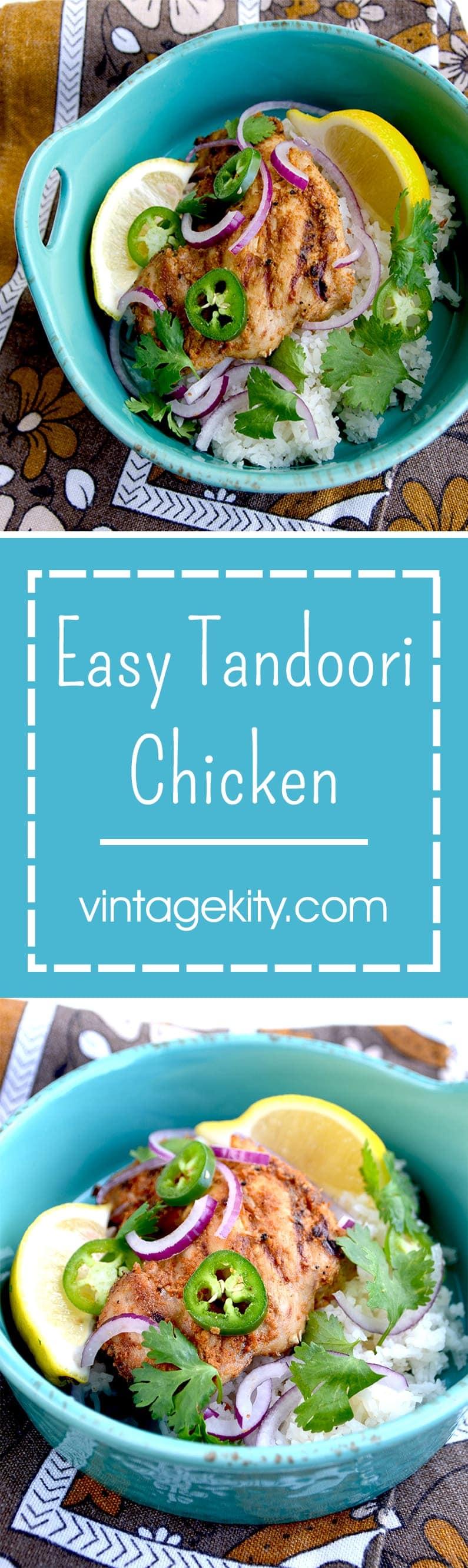 Easy Tandoori Chicken Pin - Easy Tandoori Chicken