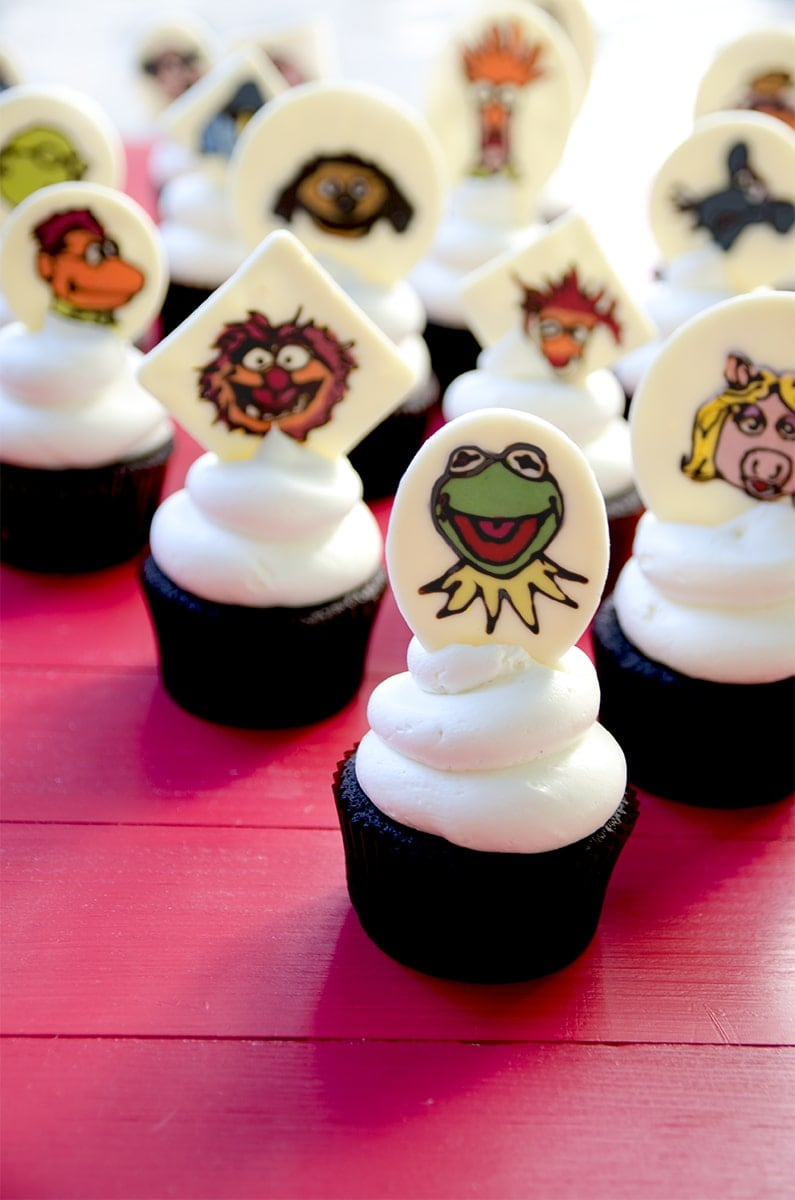 Kermit Gang Vertical Web1 - Muppets Cupcakes <br/>& Easy Vanilla Buttercream