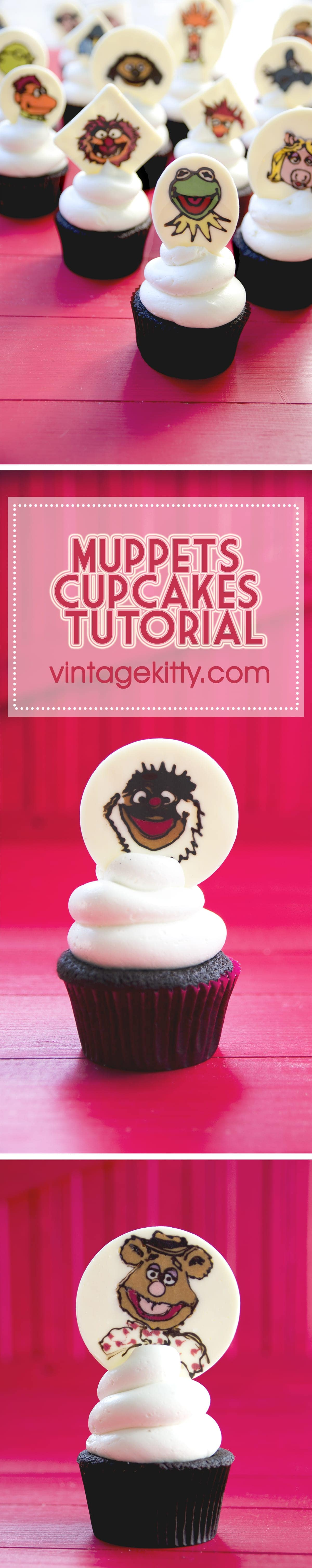 Muppets Cupcake Pin - Muppets Cupcakes <br/>& Easy Vanilla Buttercream