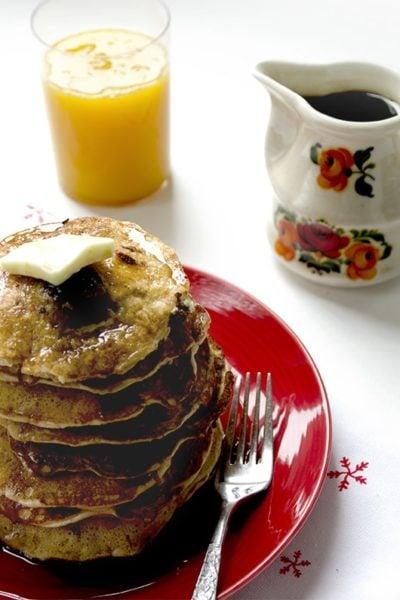 Pancakes Horizontal 2 400x600 - Chocolate Cherry Pancakes