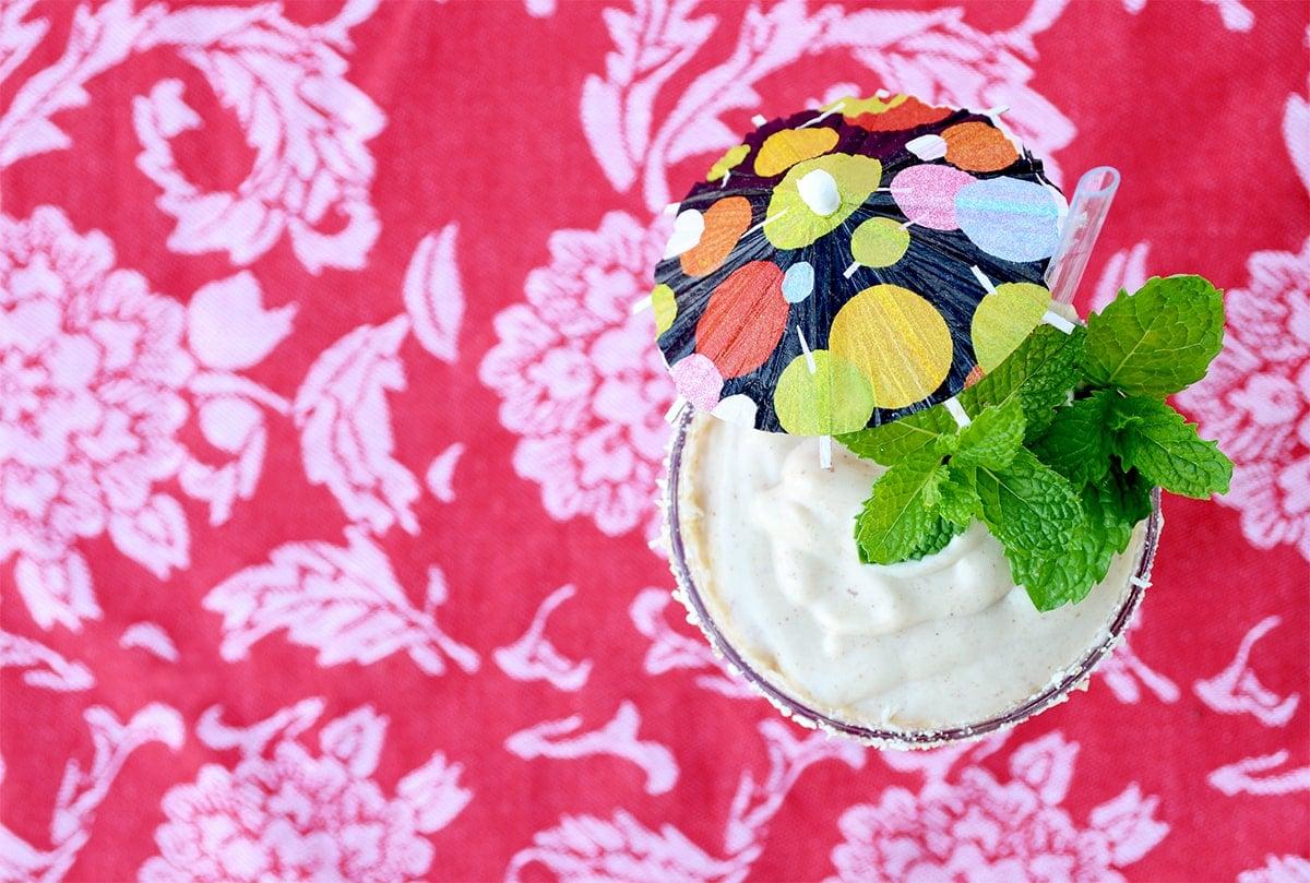 Pawpaw Smoothie Top Down Web - Creamy Vegan Pawpaw Smoothie