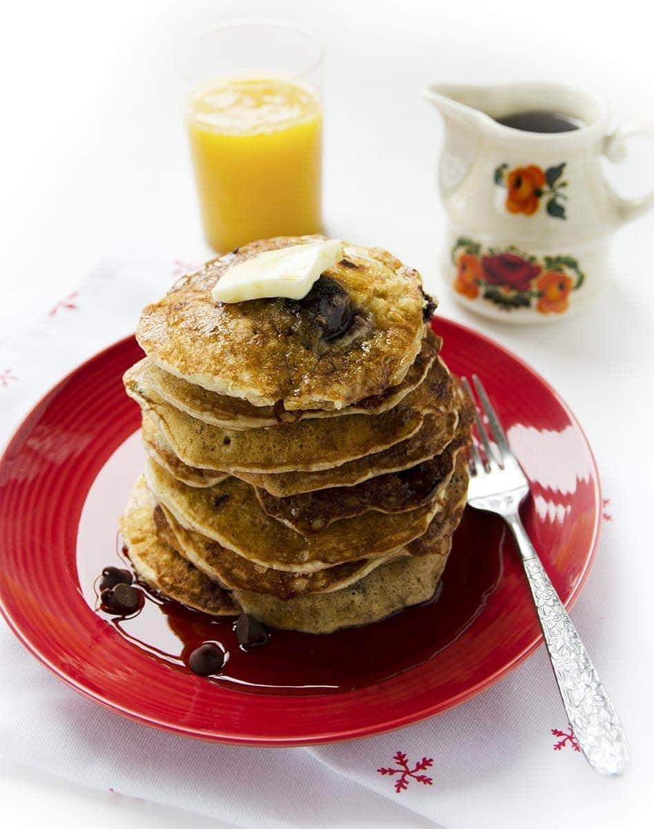 Plate of Pancakes Web 4 - Chocolate Cherry Pancakes