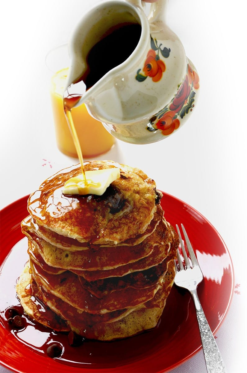 Pouring Maple Syrup Web 2 - Chocolate Cherry Pancakes