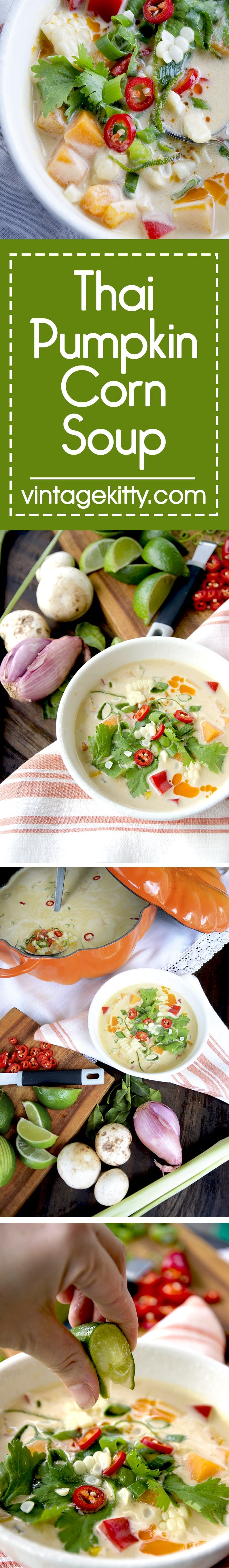Pumpkin Thai Soup Pin - Thai Pumpkin Corn Soup