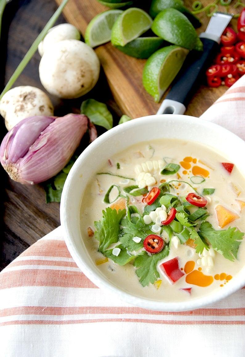 Pumpkin Thai Soup Web - Thai Pumpkin Corn Soup