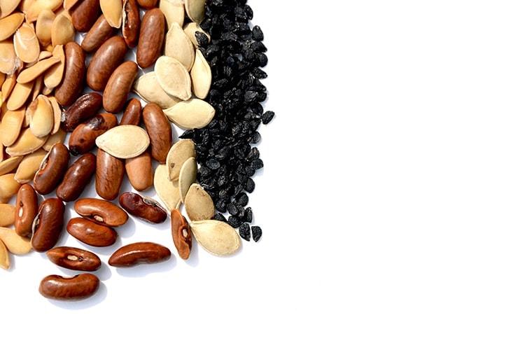 closeup of seeds