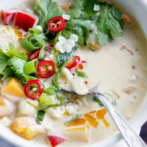 Soup Closeup Web 3 300x300 - Thai Pumpkin Corn Soup