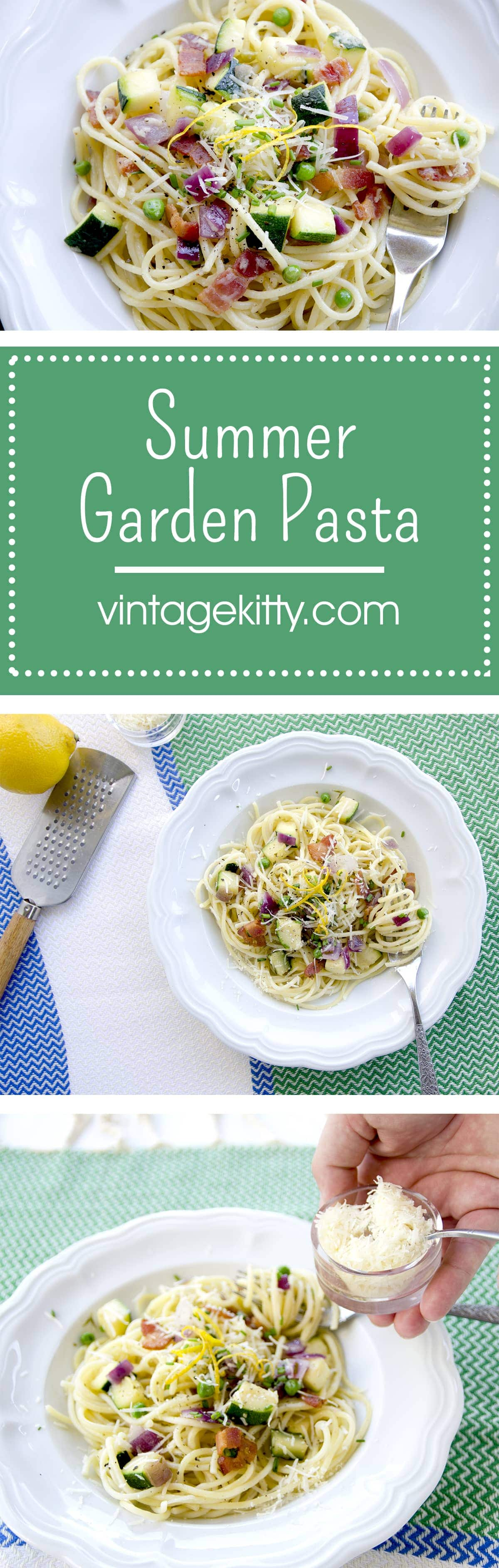 Summer Garden Pasta Long Pin - Easy Summer Garden Pasta