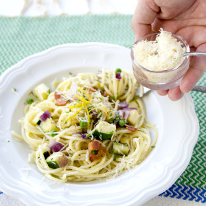 Summer Pasta with Parmesan 300x300 - Easy Summer Garden Pasta