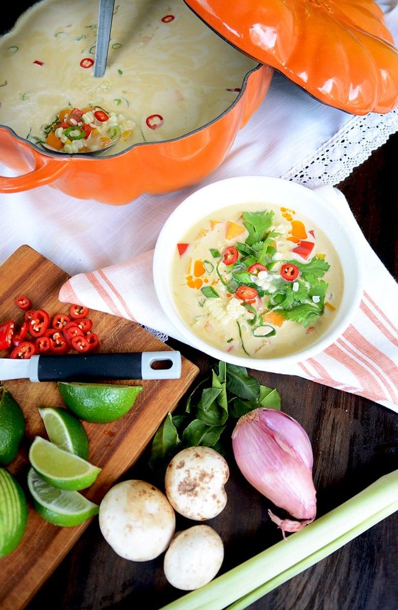 Vertical Web - Thai Pumpkin Corn Soup