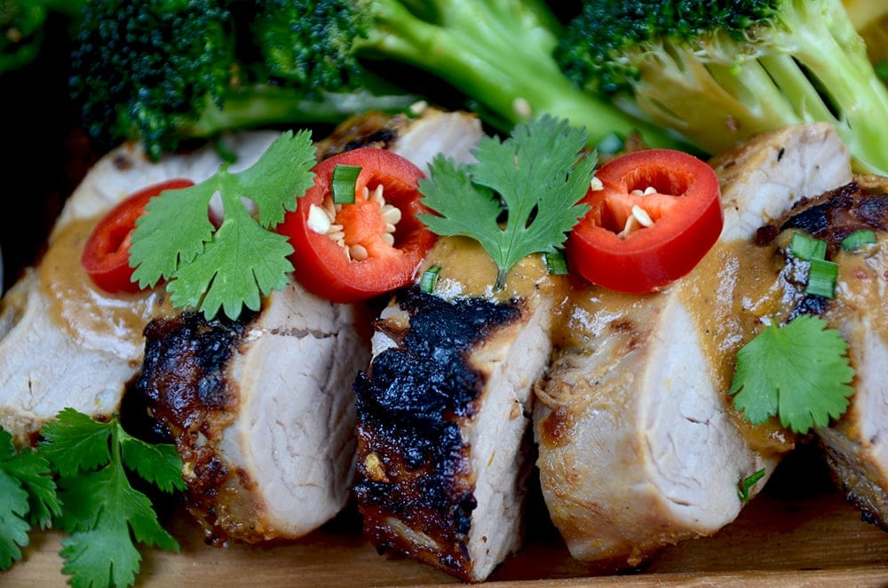 Asian Peanut Pork Tenderloin Web - Asian Peanut Pork Tenderloin