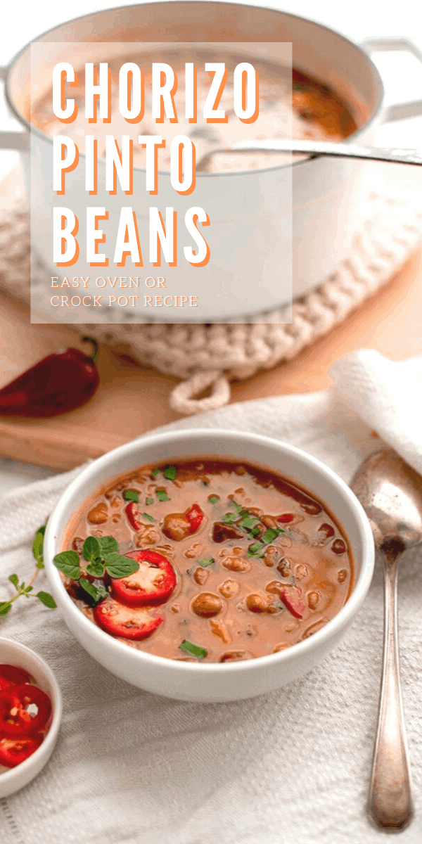 Chorizo Pinto Beans 2 - Chorizo Pinto Beans {Dutch Oven and Slow Cooker Instructions}