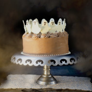 Dancing Ghosts Chocolate Coconut Cake