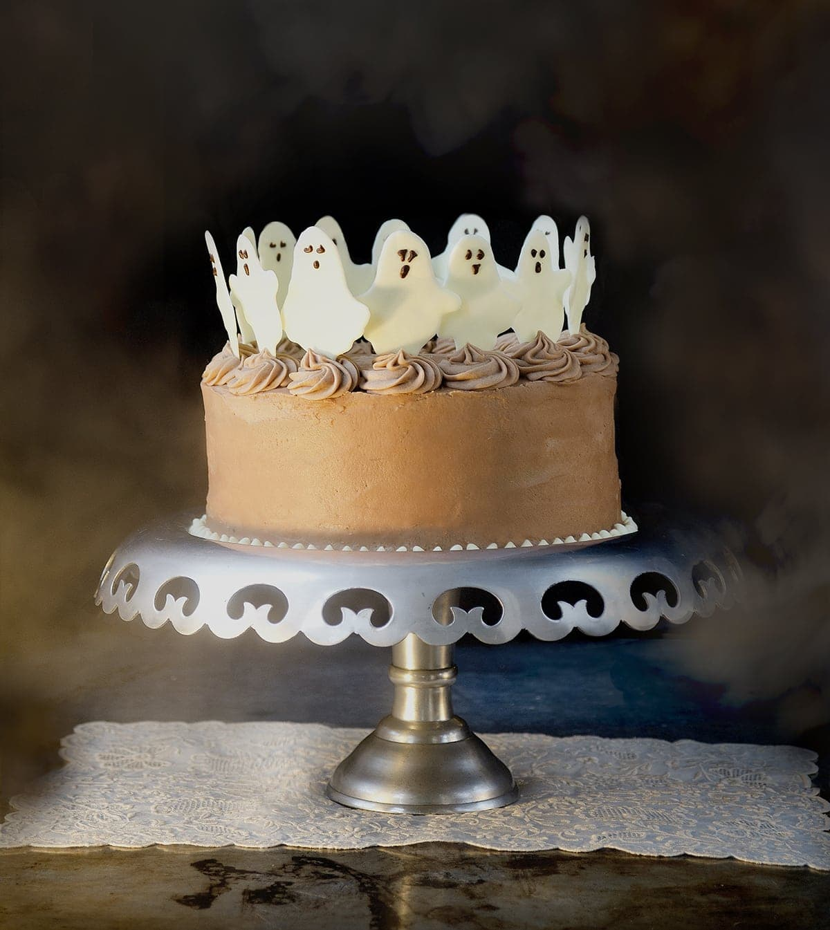 Dancing Ghosts Chocolate Coconut Cake - Vintage Kitty