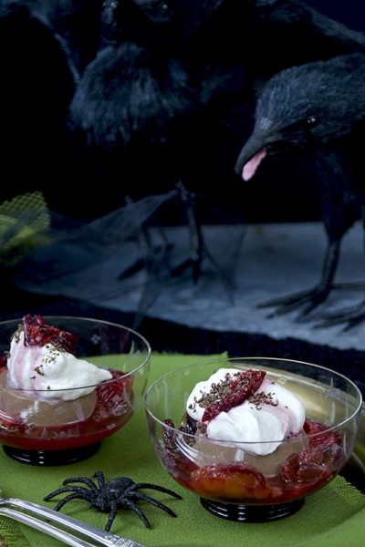 Panna cotta with crows Web 400x600 - Chocolate Panna Cotta with Blood Oranges