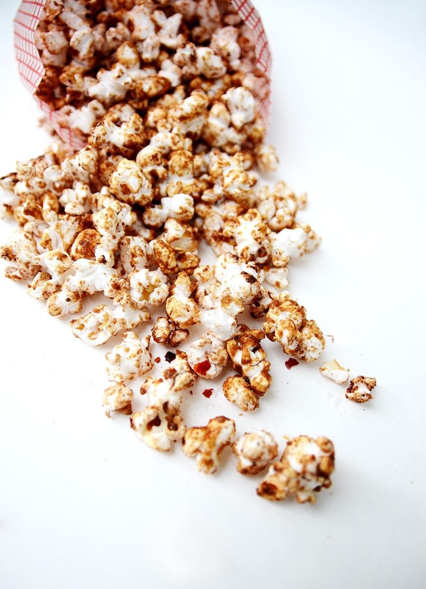 Popcorn Closeup Web - Mexican Spiced Hot Chocolate Popcorn