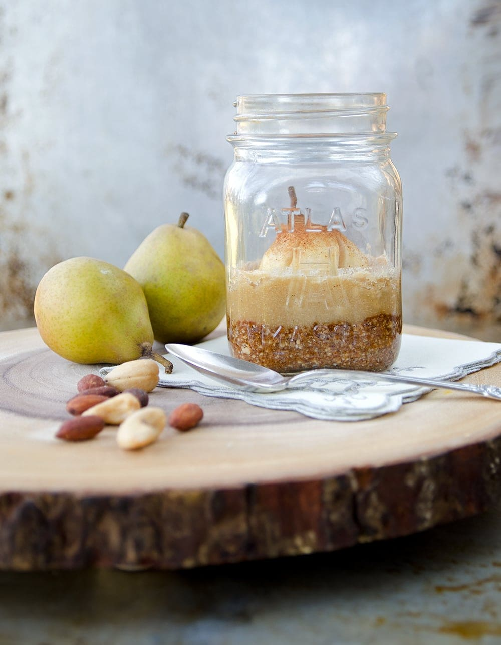Nutty Pear Crumble in Jar Web - Nutty Pear Crumble- Vegan and Gluten Free