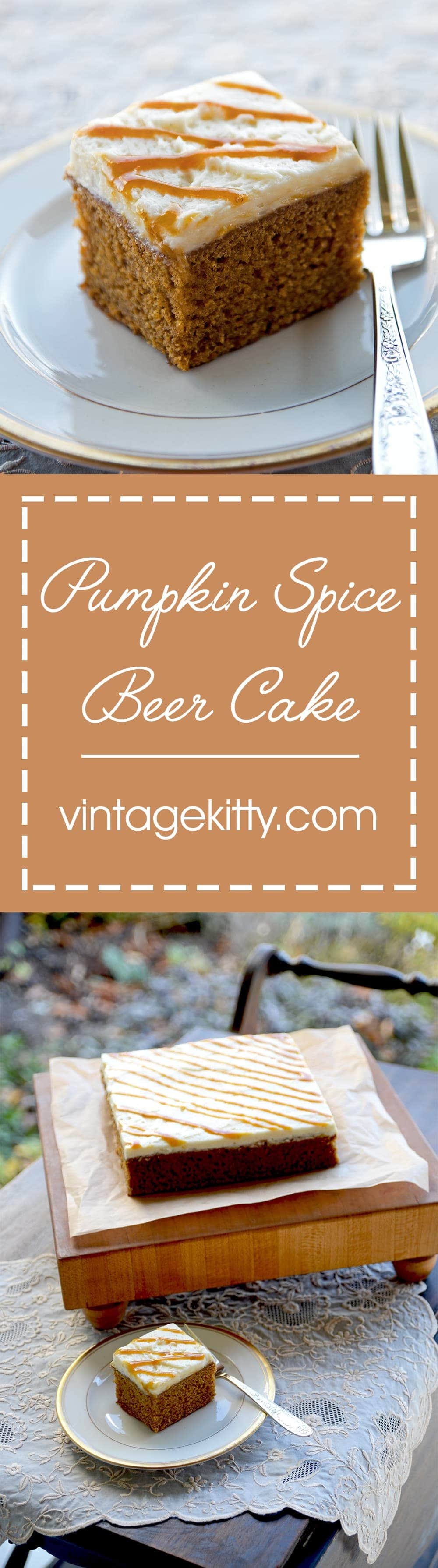Pumpkin Beer Cake Pin - Pumpkin Spice Beer Cake
