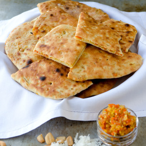 Royal Special Naan 2 Web 300x300 - Stuffed Naan Recipe with Candied Carrots, Cashews and Coconut