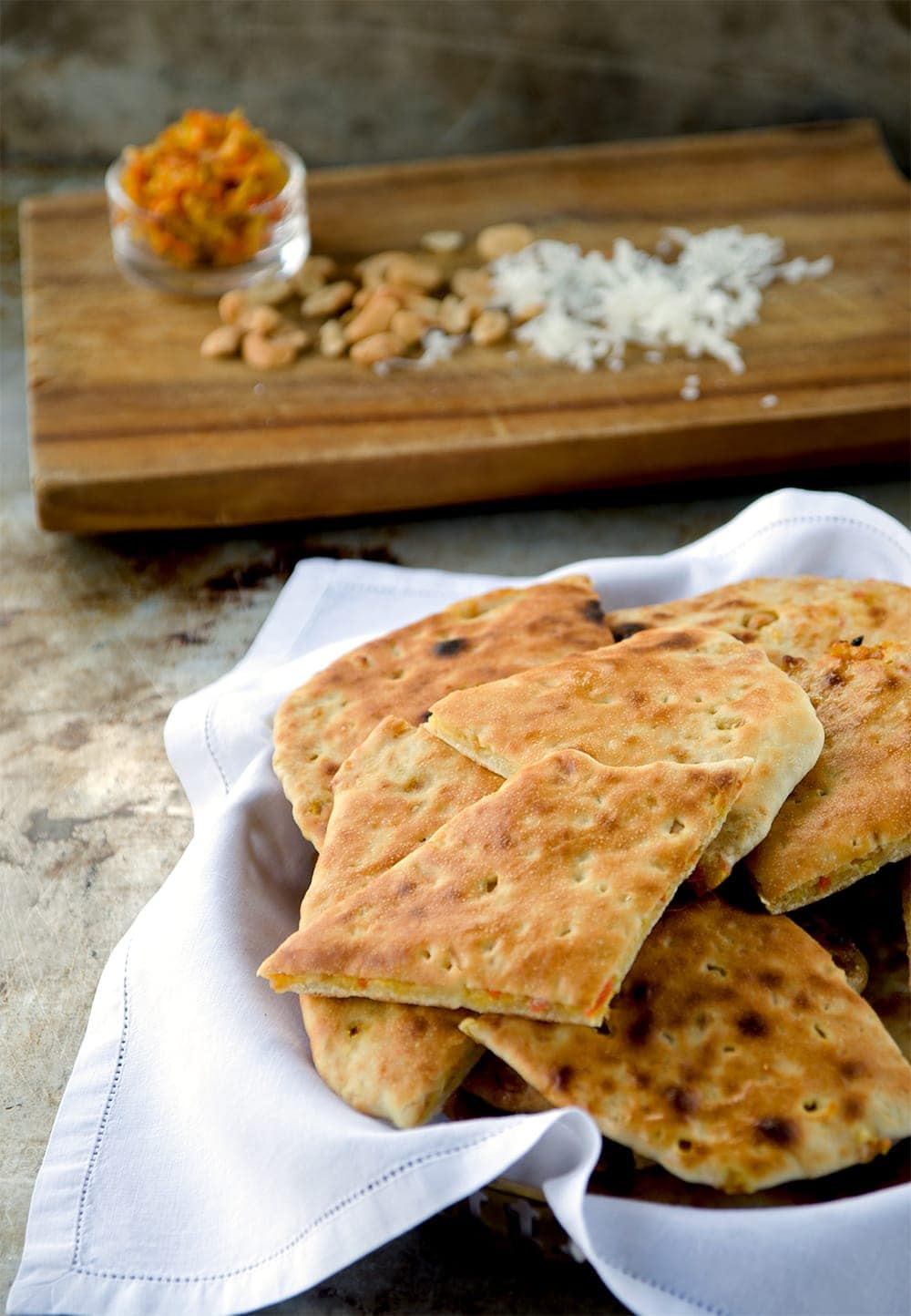 Royal Special Naan Web - Stuffed Naan Recipe with Candied Carrots, Cashews and Coconut