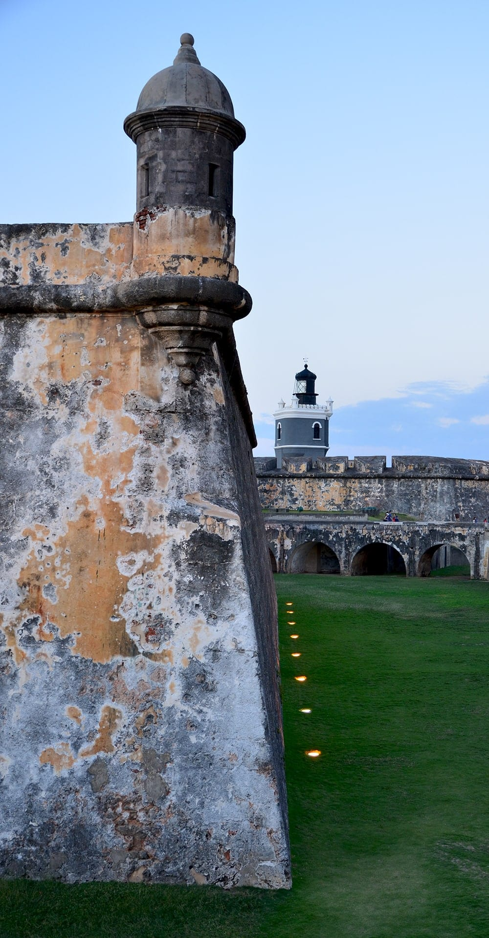 Dry Moat at El Morro Web - Old San Juan and Rum Old Fashioned