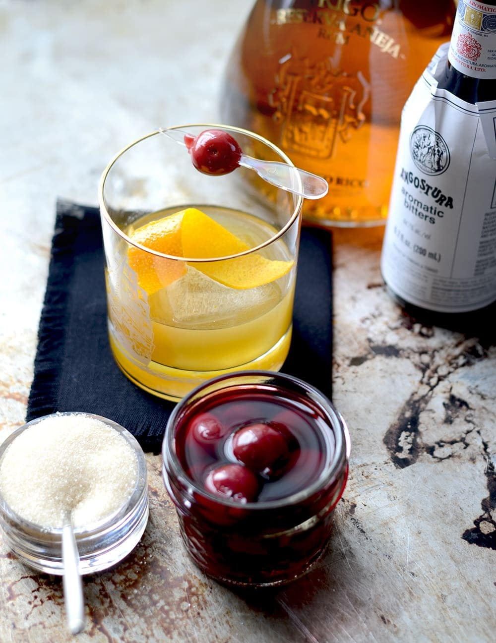 Discover San Juan hot spots and a recipe for the classic Rum Old Fashioned using one of Puerto Rico's fine aged rums. | vintagekitty.com