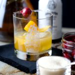 Rum Old Fashioned in Vintage Glass Web