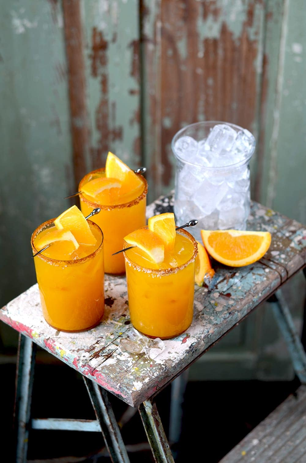 Orange Turmeric Margaritas Scene Web - Orange Turmeric Margaritas