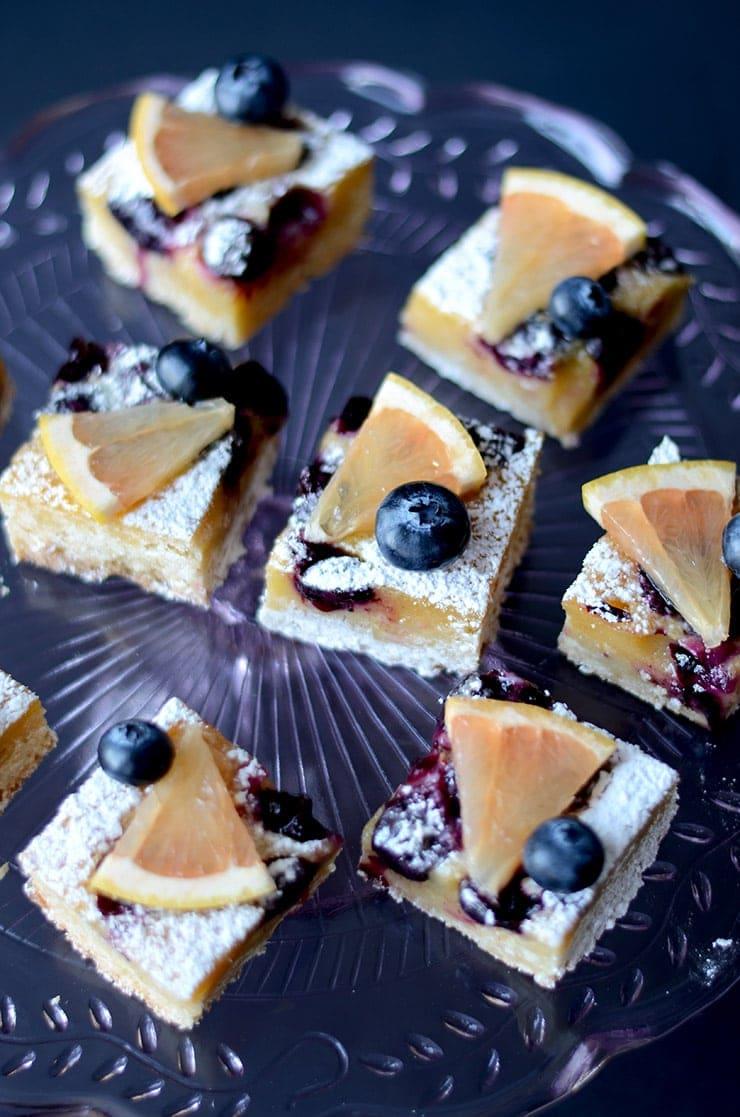 Blueberry Grapefruit Bars Vertical Web - Blueberry Grapefruit Bars