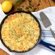 Lemon Thyme Potatoes au Gratin- #SundaySupper
