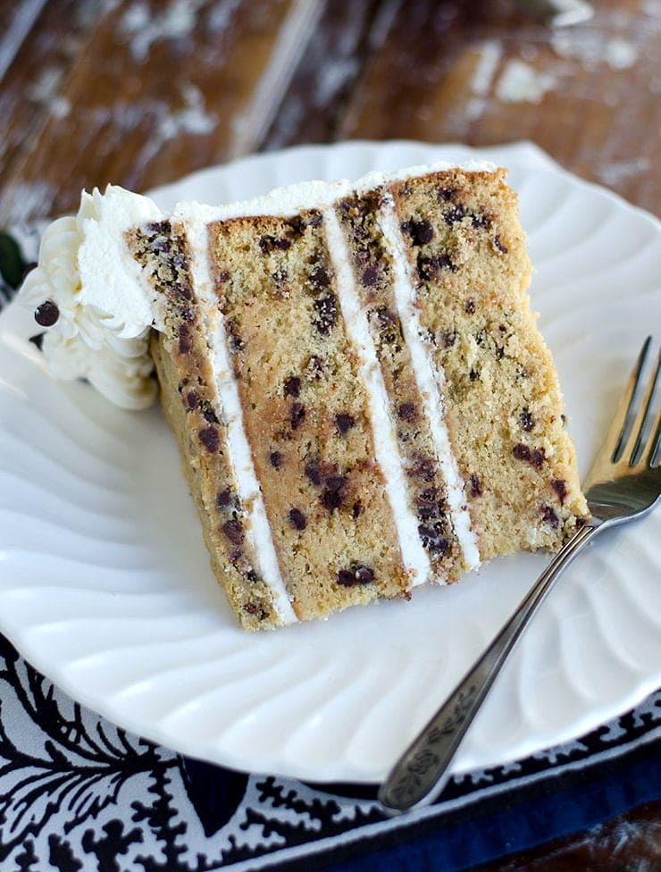 Slice of Chocolate Chip Cookie Cake Web - Chocolate Chip Cookie Cake