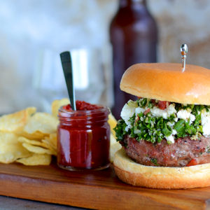 Burger Horizontal Web 300x300 - Tabouleh Turkey Burgers with Feta and Harissa