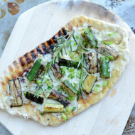 Grilled Vegetable Pizza with Lemon Cream Sauce