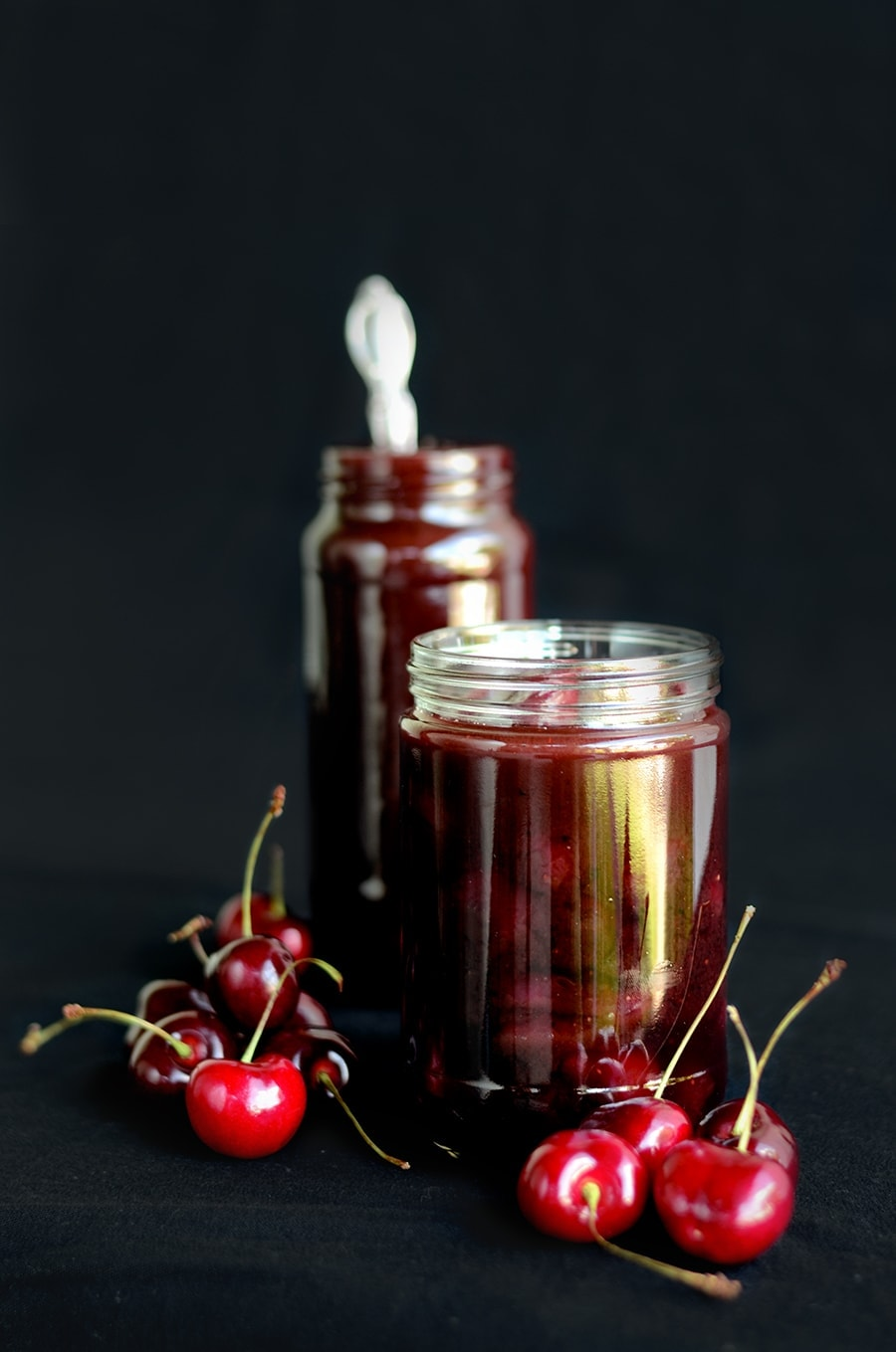 Jars of Grilled Cherries Web - Grilled Cherries in Spiced Butter Rum Sauce