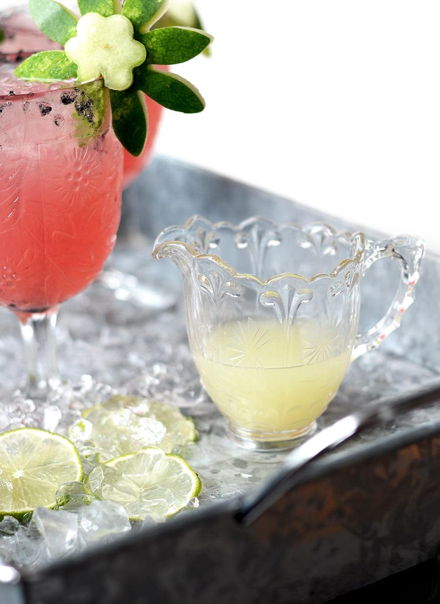 Lime juice Web 3 - Watermelon Margaritas with Watermelon Rind Garnish