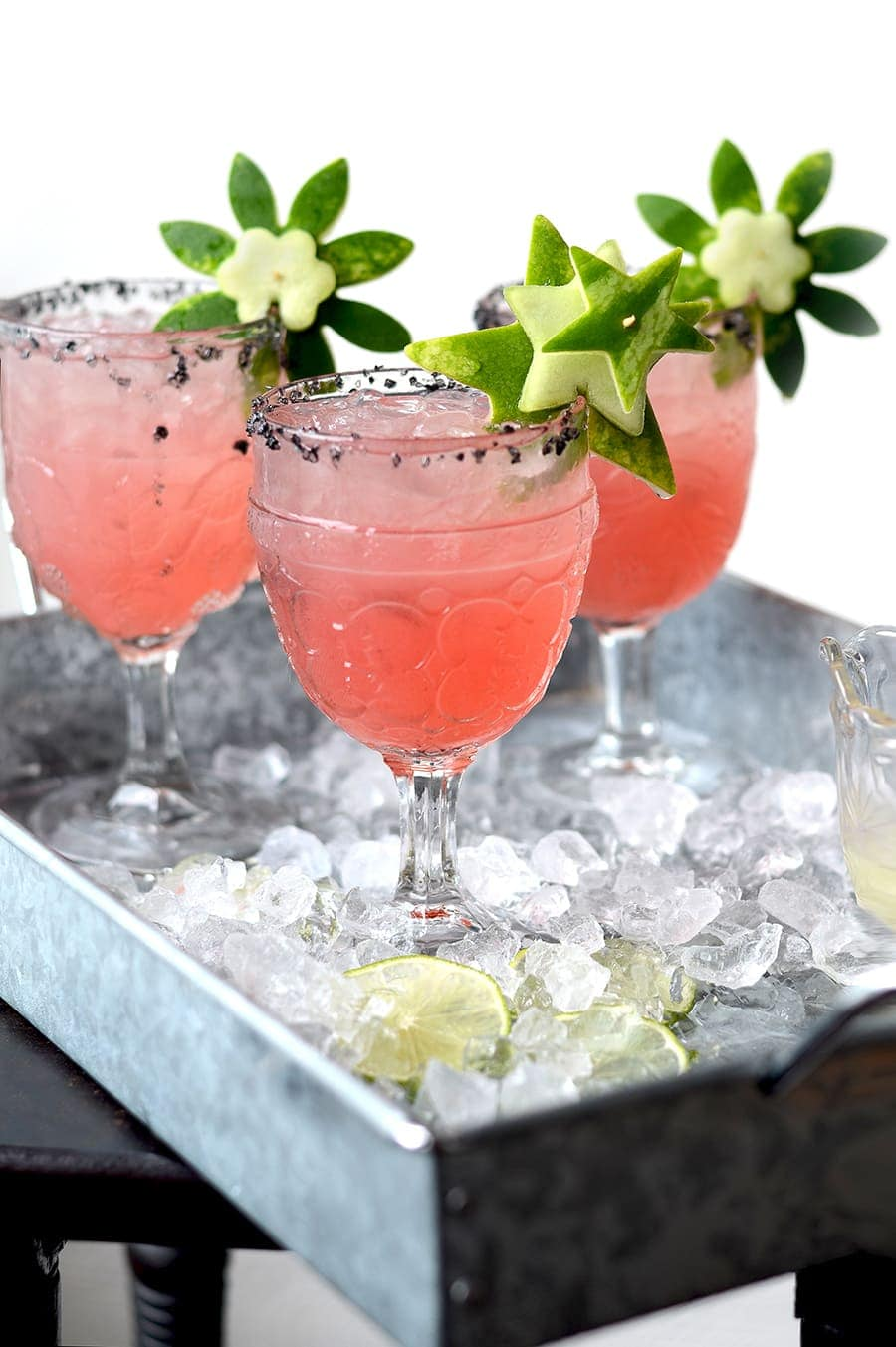 Watermelon Margaritas Stars Web 2 - Watermelon Margaritas with Watermelon Rind Garnish