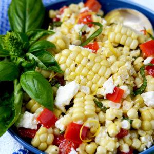 Corn Salad 2 Web 300x300 - Corn Salad with Basil and Queso Fresco
