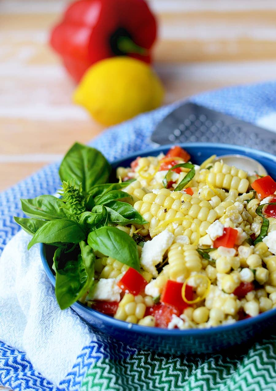 Corn Salad Web - Corn Salad with Basil and Queso Fresco