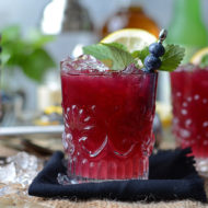 Blueberry Whiskey Buck