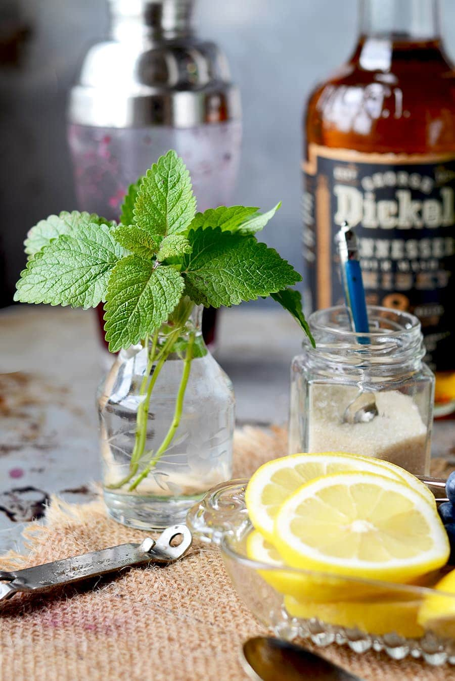 Lemon Balm Web - Blueberry Whiskey Buck