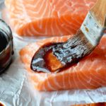 glazed salmon on foil