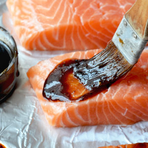 Easy Baked Salmon Glazing Slider 300x300 - Incredibly Easy Asian Baked Salmon