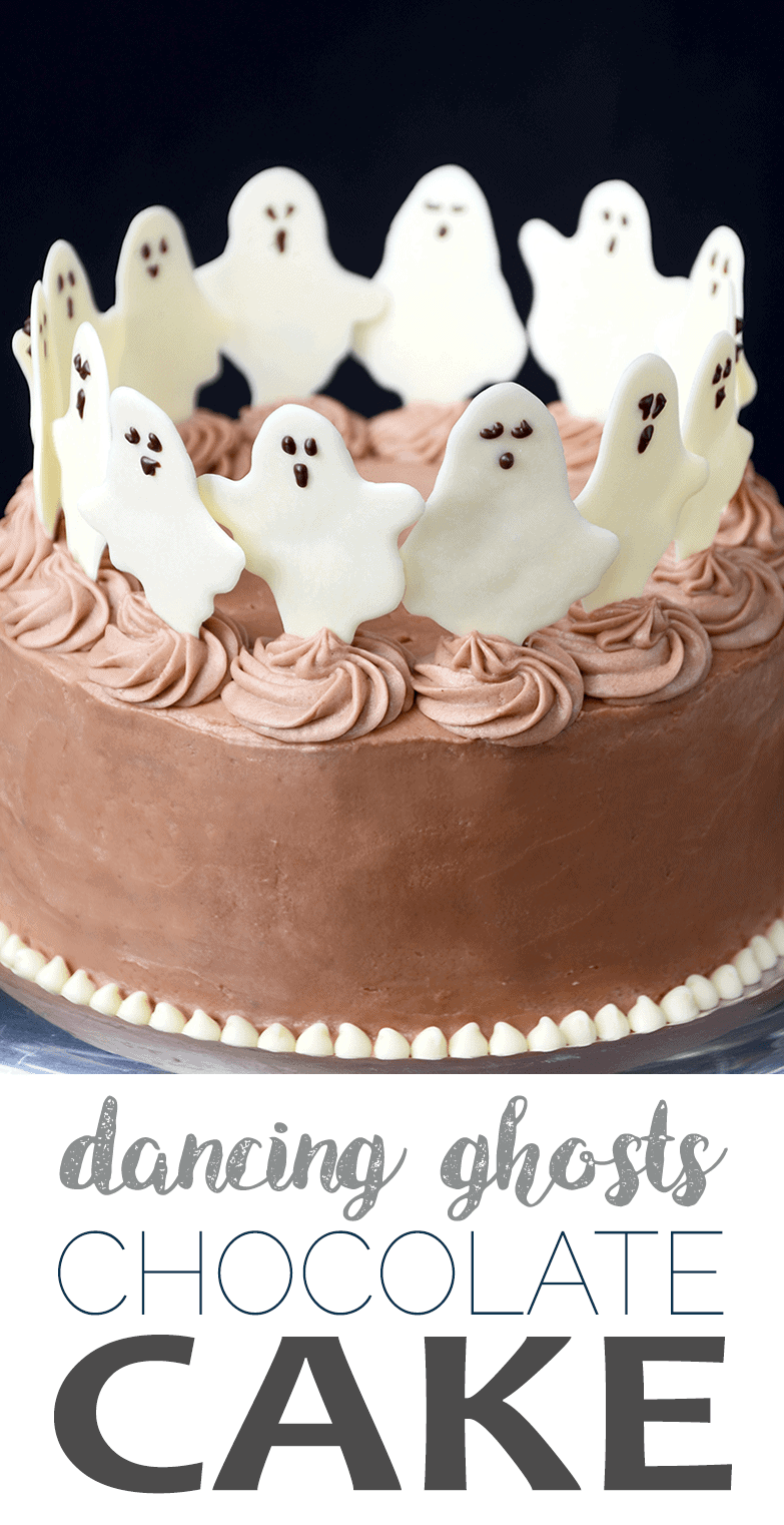 Dancing Ghosts Chocolate Cake - Dancing Ghosts Chocolate Coconut Cake
