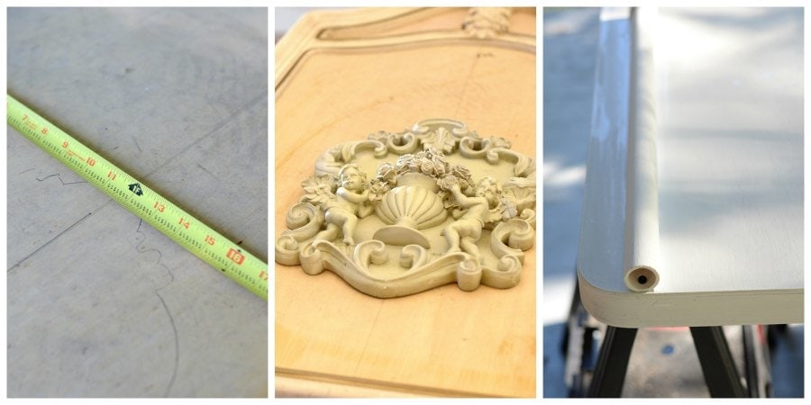 PicMonkey Collage Tombstone 4 - How to Make a Tombstone Prop </br> from a Vintage Mirror