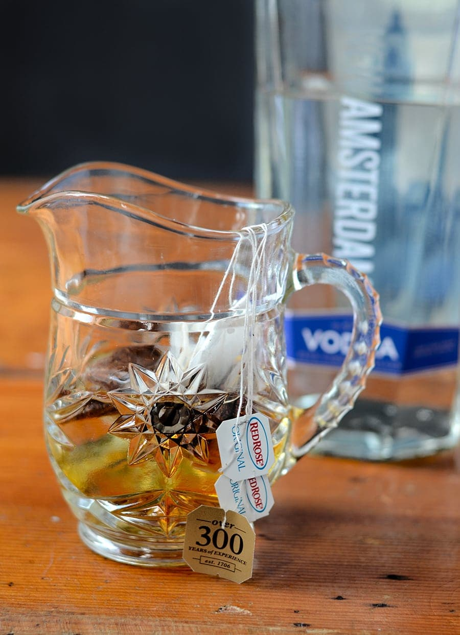 Vodka Tea in Pitcher Web - Skinny Iced Tea Cocktail </br>with Homemade Unsweetened Tea Vodka